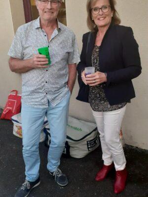 Mme le Maire avec Gilles