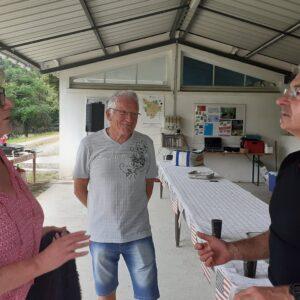 Claudine et Michel avec JP